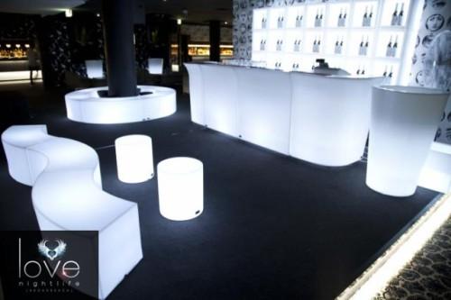 Illuminated furniture White setting