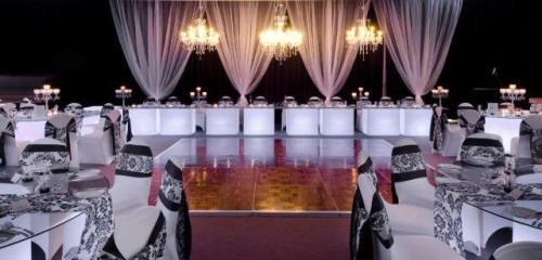 White Wedding Glow tables