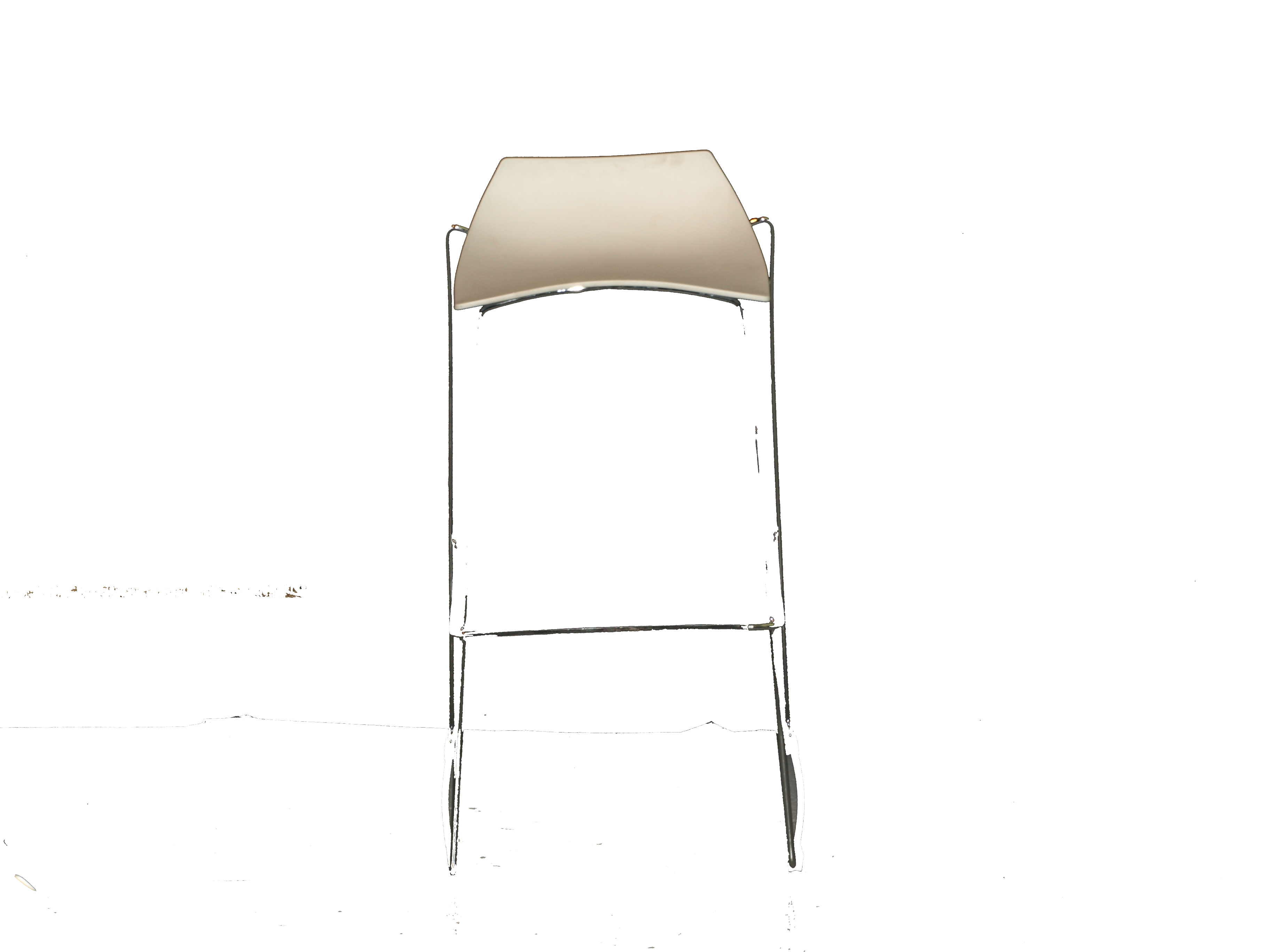White Slat Base Stools