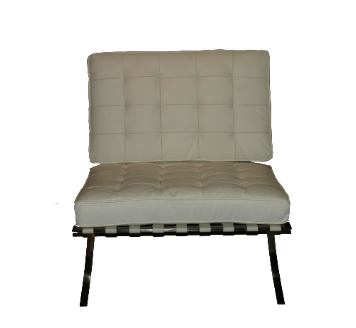 White Barcelona Leather Chair Collection