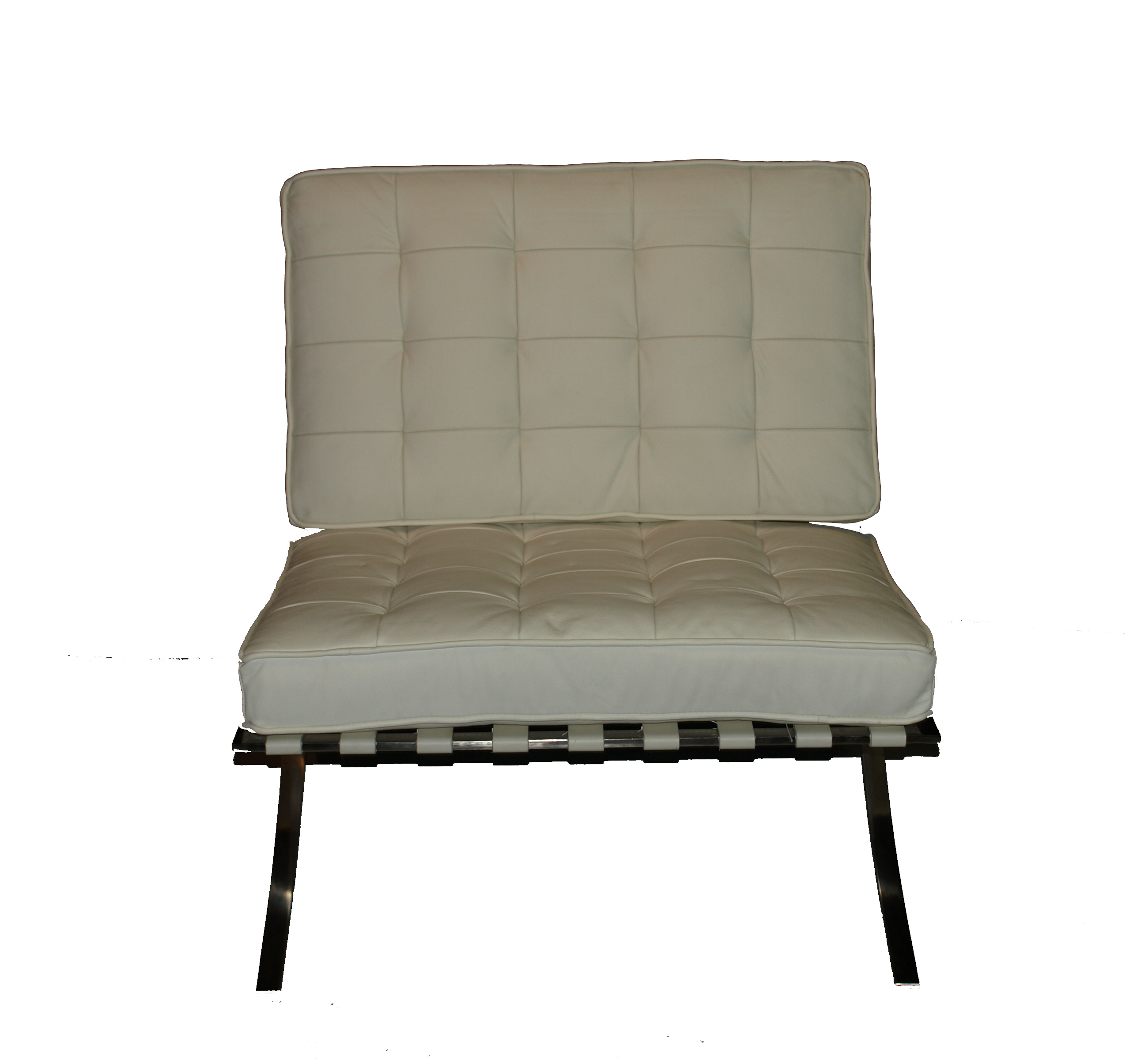Barcelona White Leather Chair