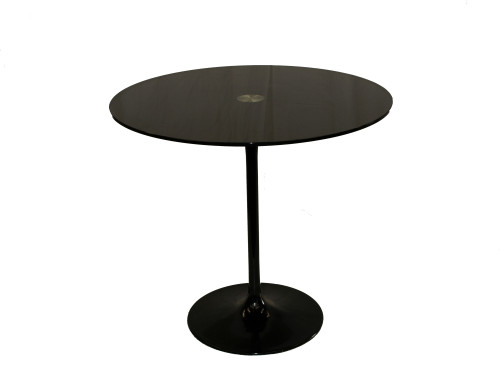 Black glossy glass Side Table