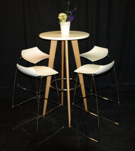 Wooden High Table Set