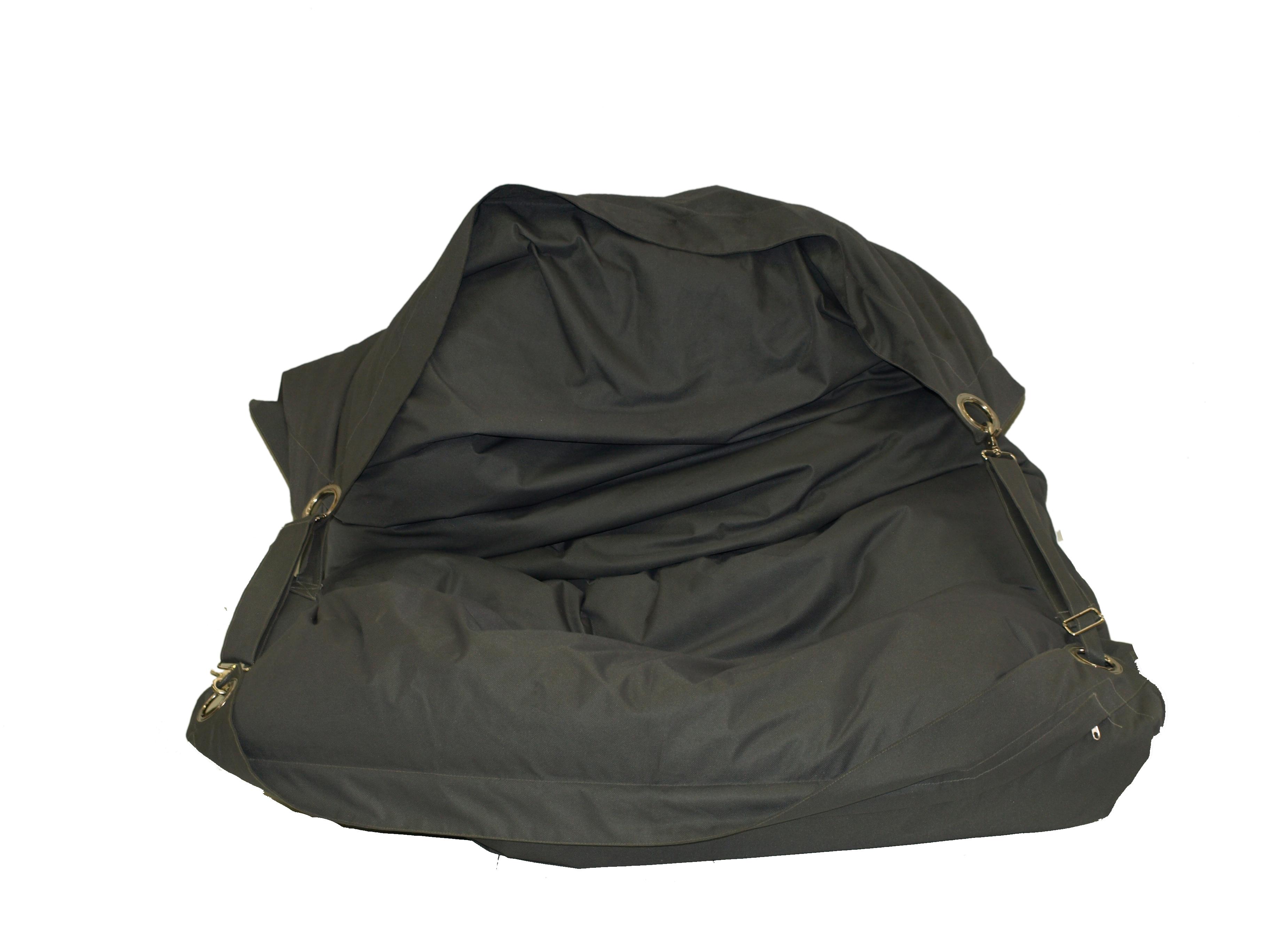Hire Black Amp White Cushion Strap Bean Bag