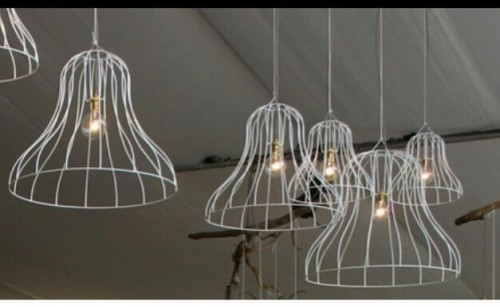 Hanging White Lamp Shades Hire Perth