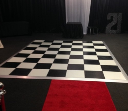 Black & White Dancefloors Hire Perth